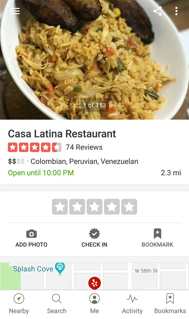 yelp images and review rating drives customers