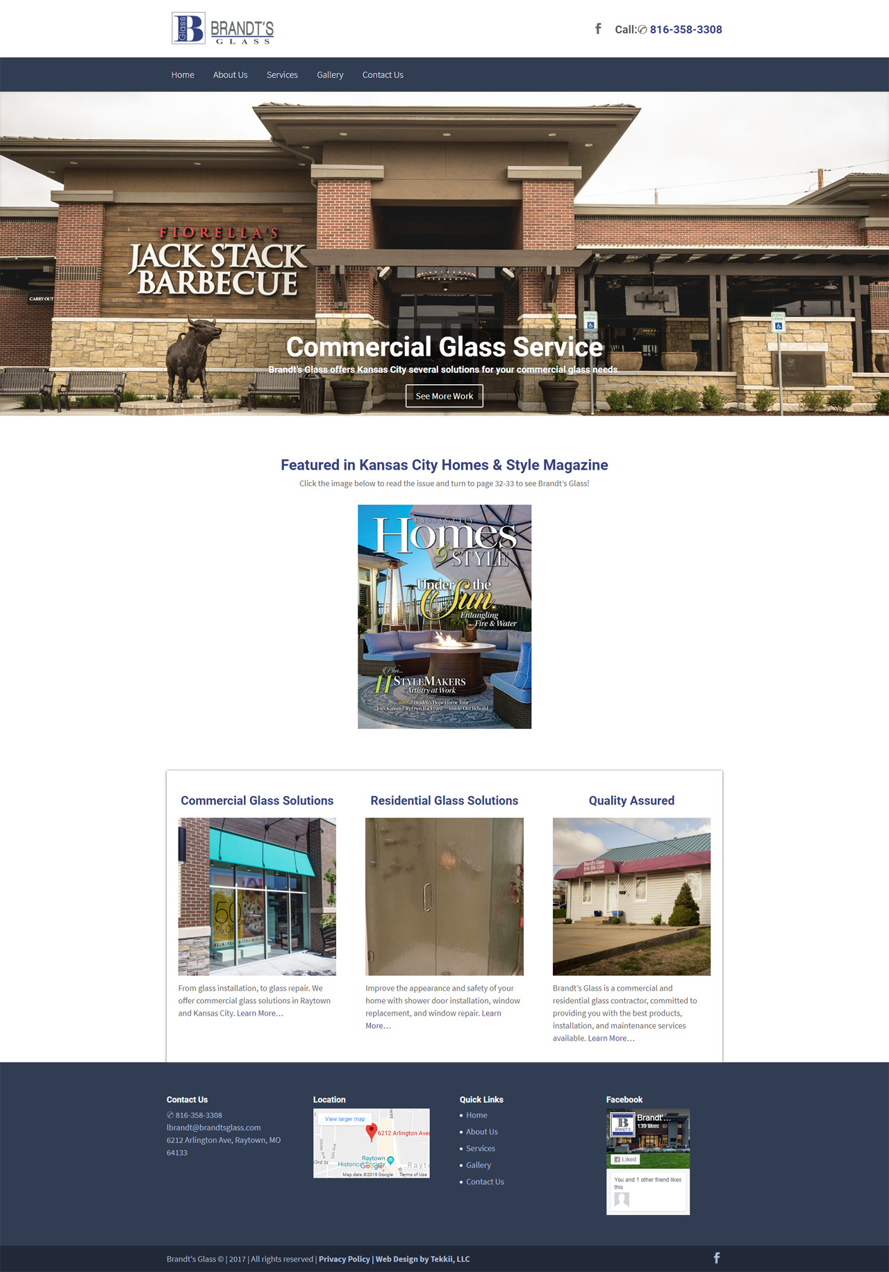 commercial glass contractor web design