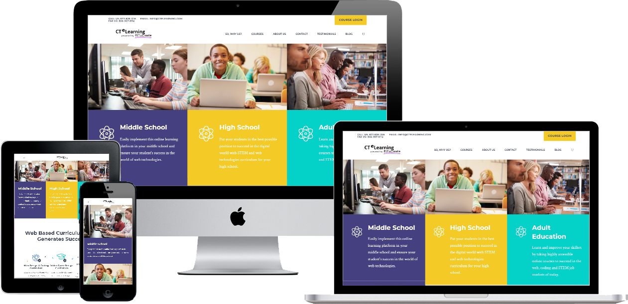 cte learning website design for all devices