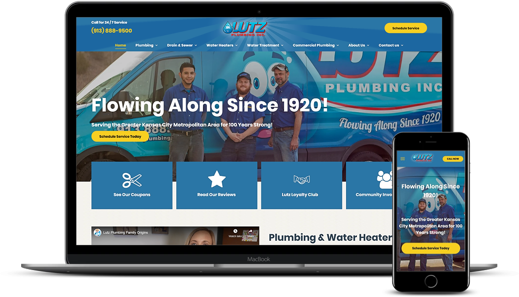 plumbing website design for lutz plumbing