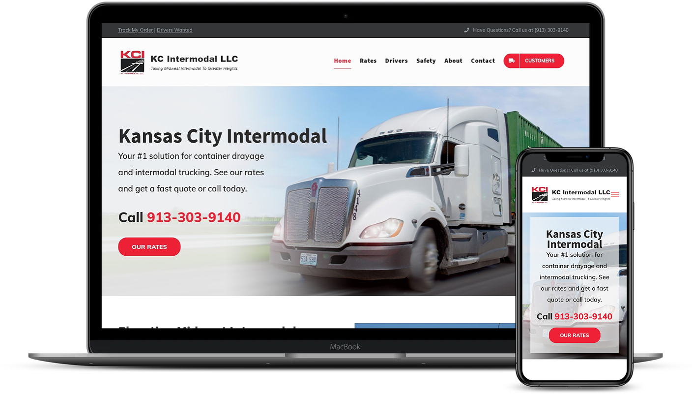 kc intermodal web design